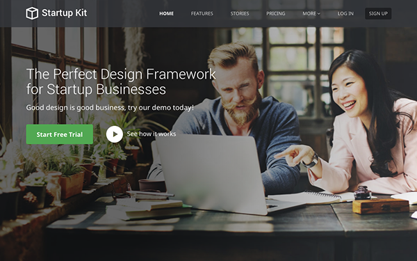Bootstrap Template for SaaS Startups
