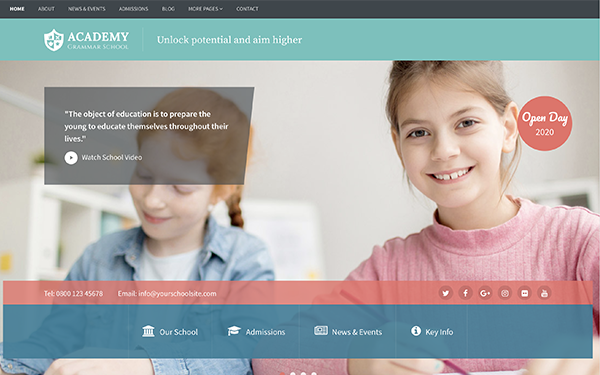 Bootstrap Template for Schools