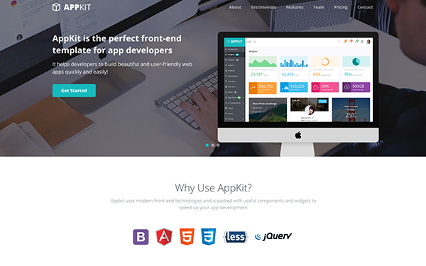 Free Bootstrap Theme for Startups and Developers - Appkit Landing