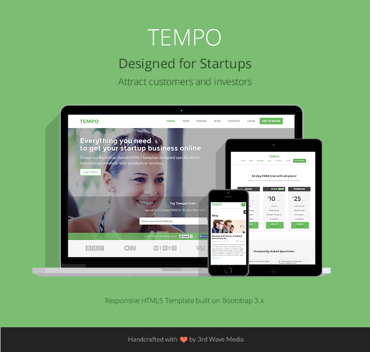 Bootstrap Theme For Startups