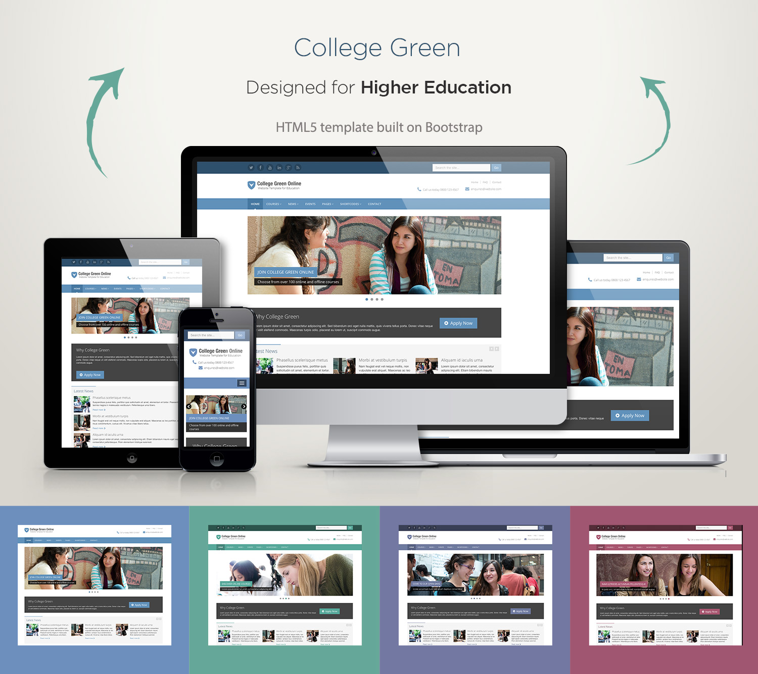 Responsive-Bootstrap-Theme-For-Education-College-Green