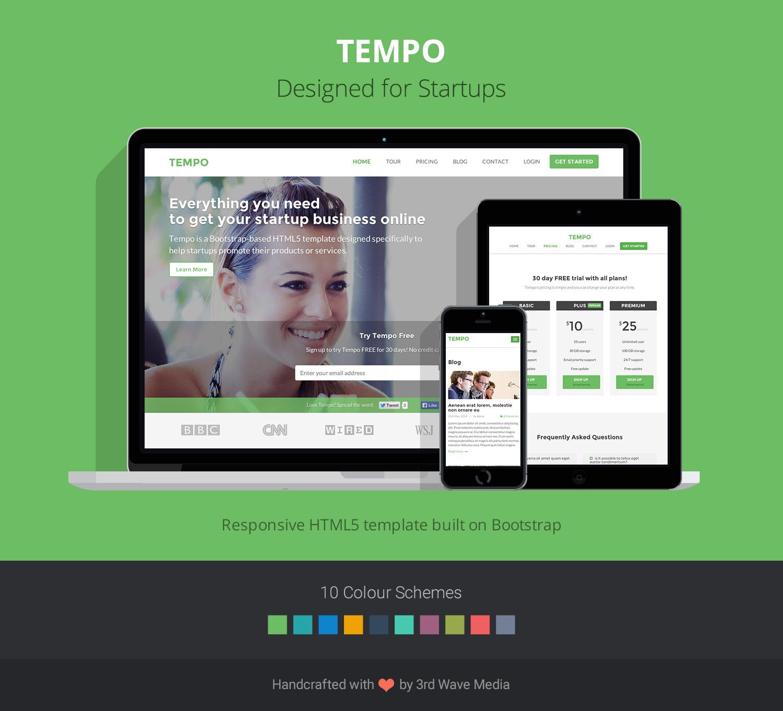 Bootstrap theme for startups - Tempo Promo