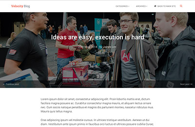 HTML5 template for products - Velocity - Blog post page