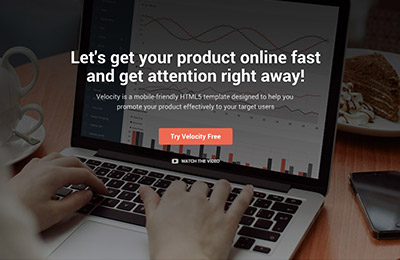HTML5 template for products - Velocity - Homepage