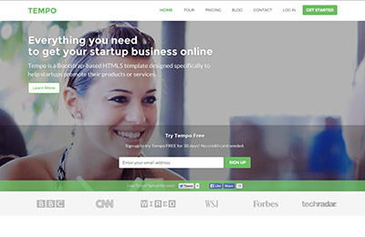 HTML5 template for startups - Tempo - Homepage