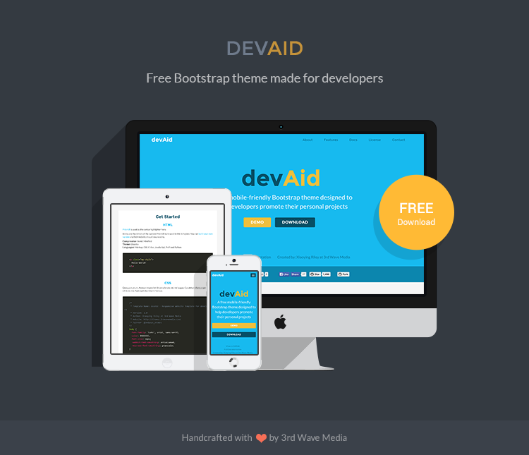 Free-Bootstrap-Theme-for-Developers