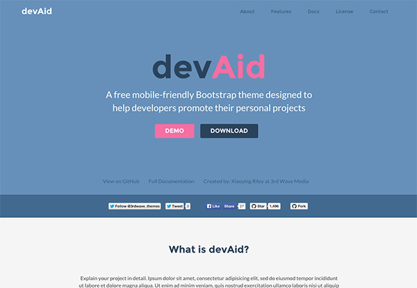 Free Bootstrap theme for developers - Color 3