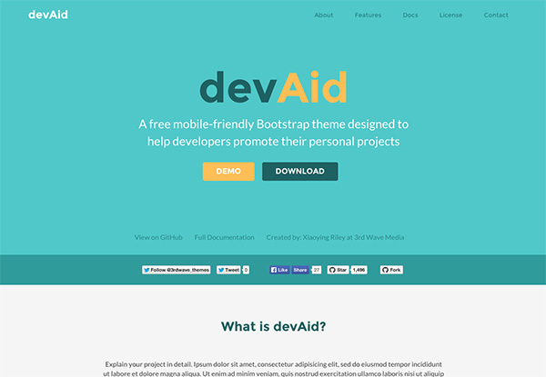 Free Bootstrap theme for developers - colour 4
