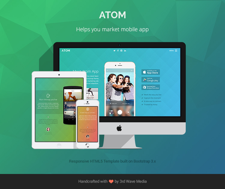 Responsive-Bootstrap-Theme-for-Mobile-Apps-Atom