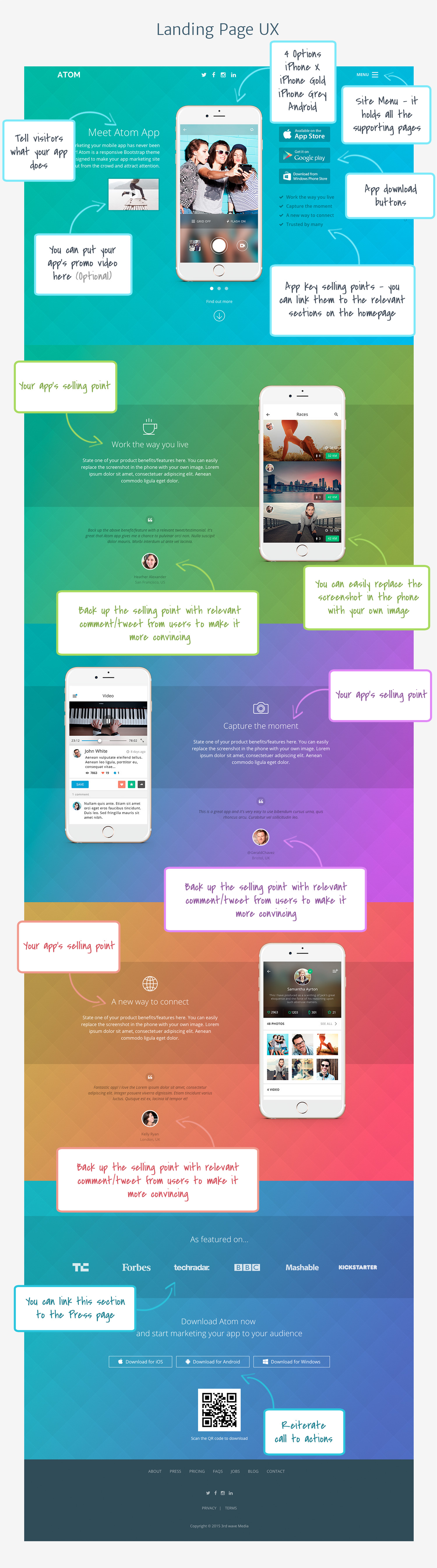 Bootstrap Theme for Mobile Apps - Atom UX Notes