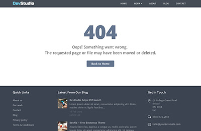 Bootstrap template for webdev agencies - DevStudio