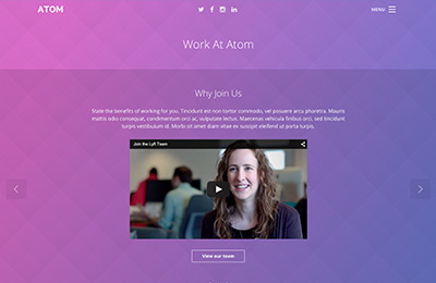 Bootstrap theme for mobile apps - Atom - Jobs Page