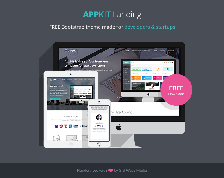 Free-Bootstrap-Theme-for-Developers-Appkit-landing