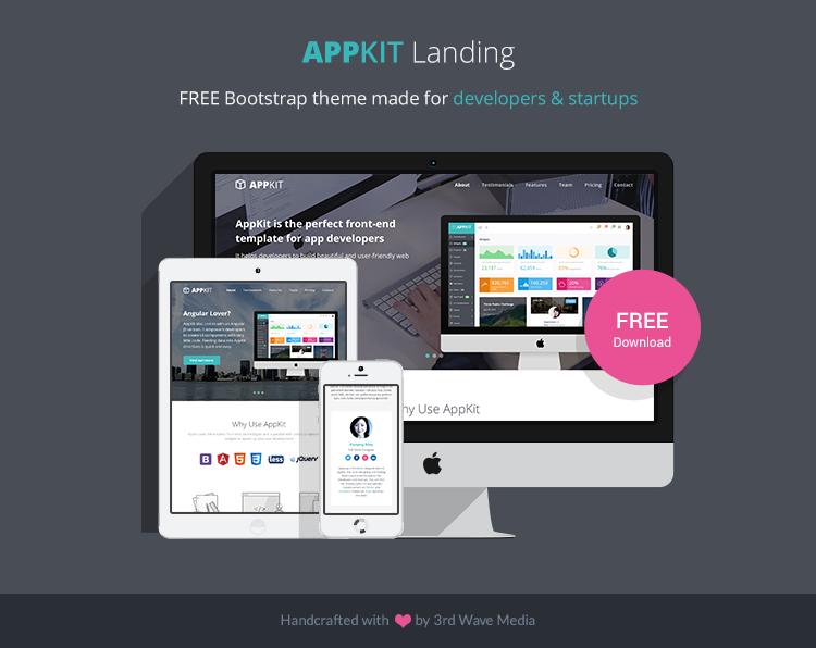 Free-Bootstrap-Theme-for-Developers-Appkit-landing