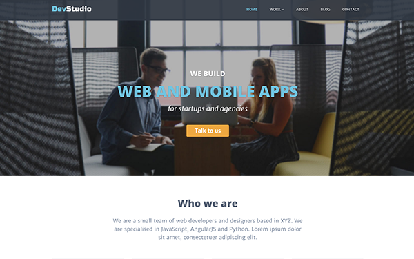responsive bootstrap theme for web development and design agency - Interior Web Design