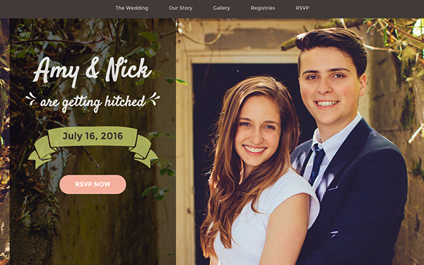Responsive Wedding Invitation Template Matrimony