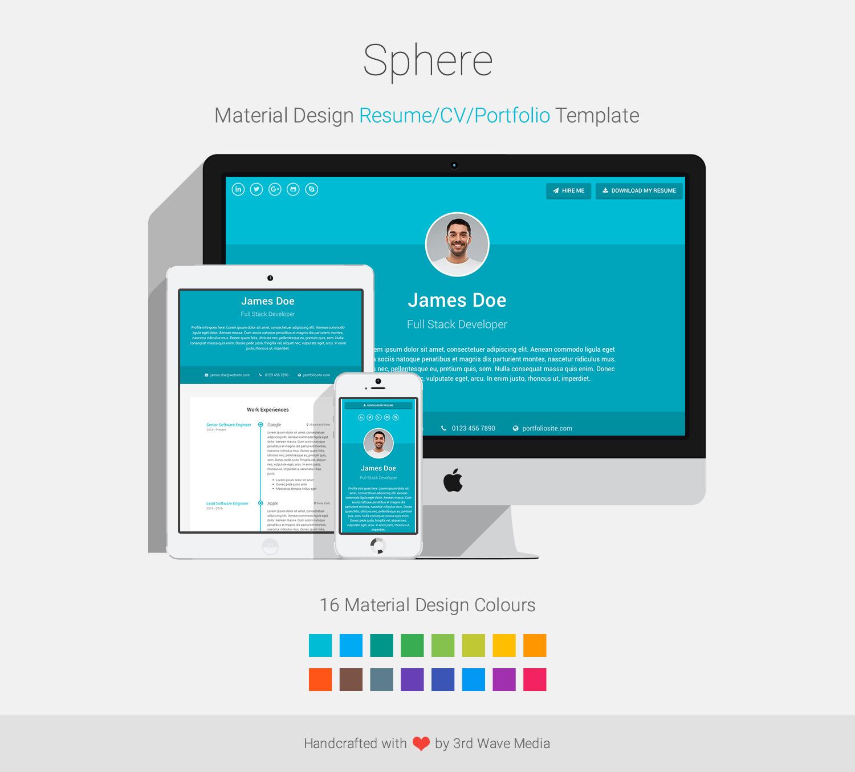 Material-Design-Resume-CV-Portfolio-Template