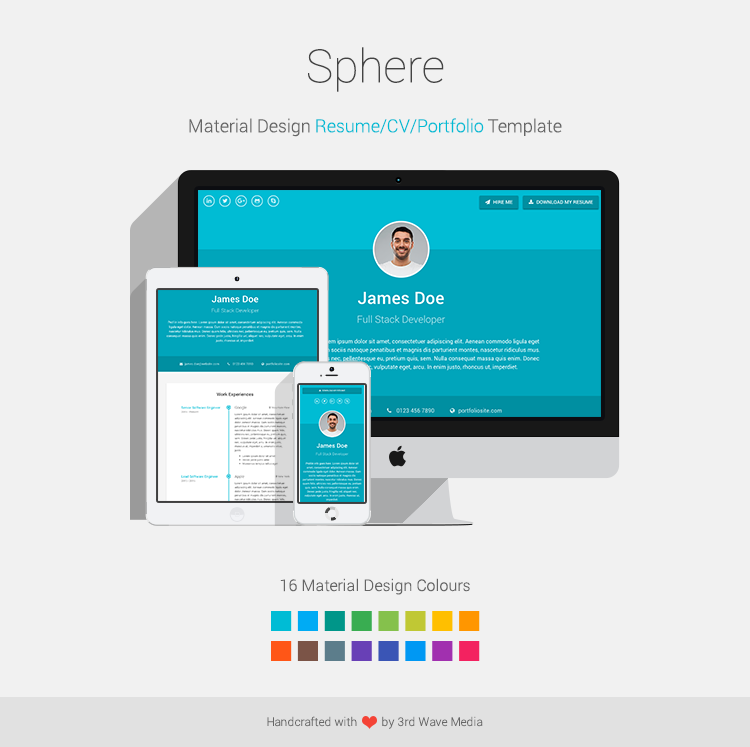 Sphere Bootstrap 4 Theme For Resume CV Portfolio
