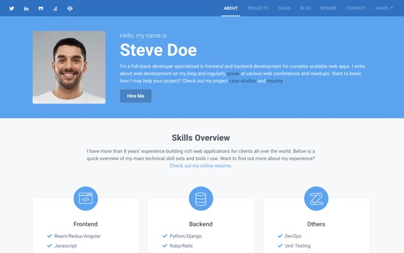 bootstrap-portfolio-template-for-developers-instance-about-page