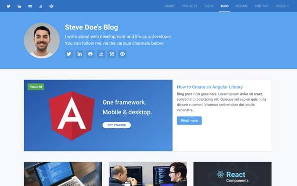 bootstrap-portfolio-template-for-developers-instance-blog-page