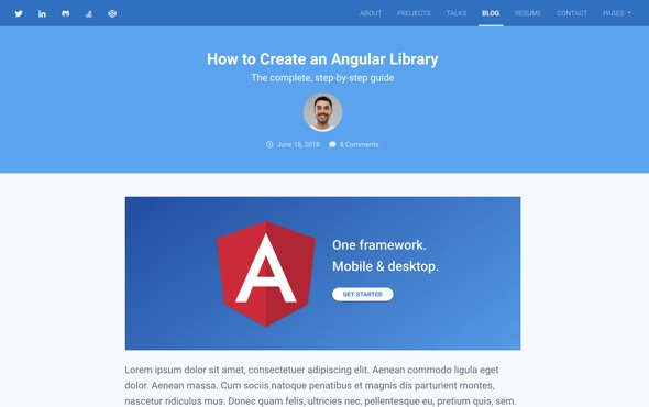 bootstrap-portfolio-template-for-developers-instance-blog-post-page