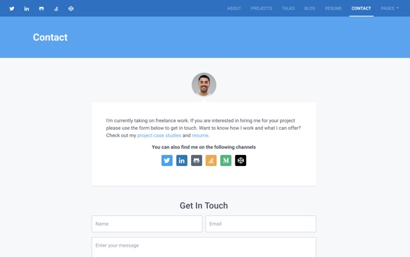 bootstrap-portfolio-template-for-developers-instance-contact-page