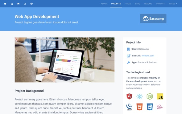 Instance - Bootstrap Personal Portfolio Template for Full