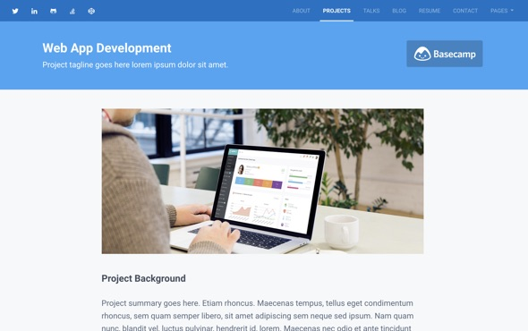 bootstrap-portfolio-template-for-developers-instance-project-page