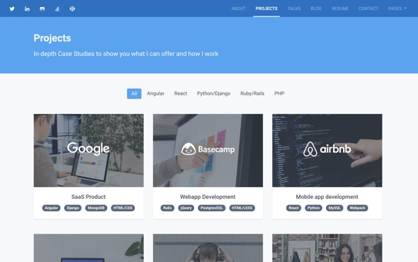 bootstrap-portfolio-template-for-developers-instance-projects-page