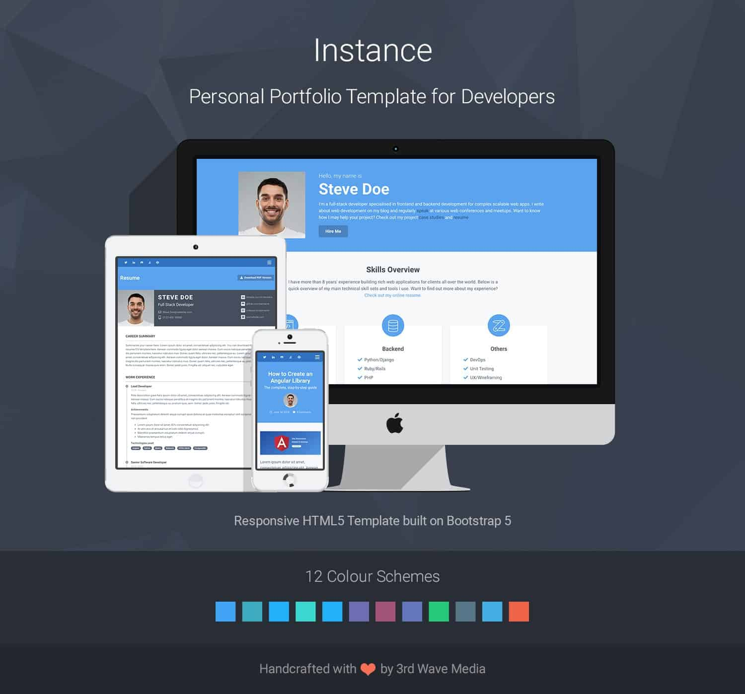 Bootstrap-Portfolio-Template-For-Developers-Instance