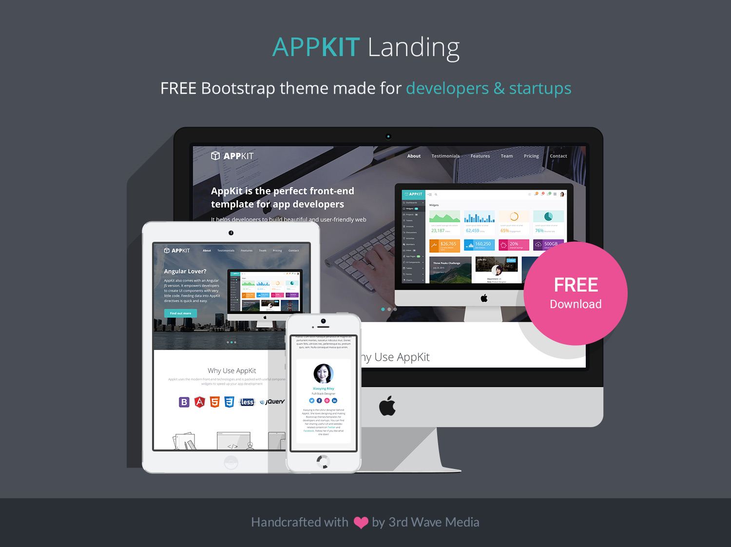 AppKit Landing - Free Bootstrap 4 Theme for Developers and Startups ...