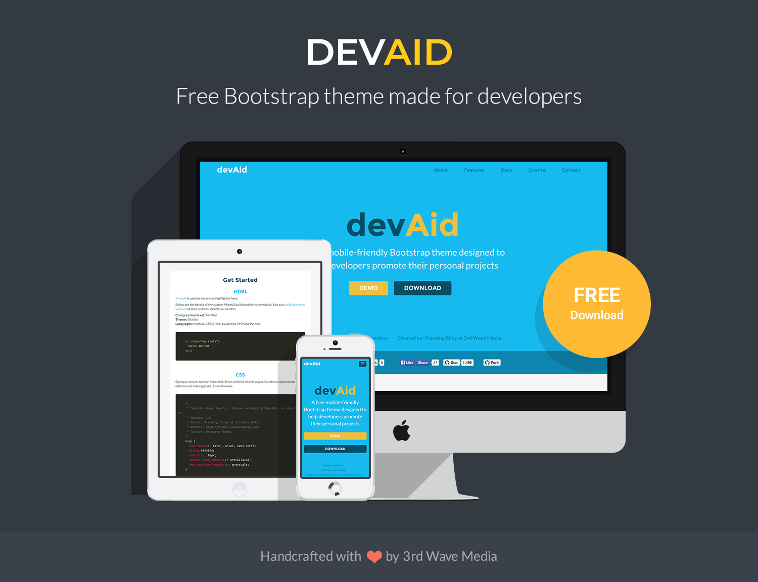 Free-Bootstrap-Theme-for-Developers-devaid