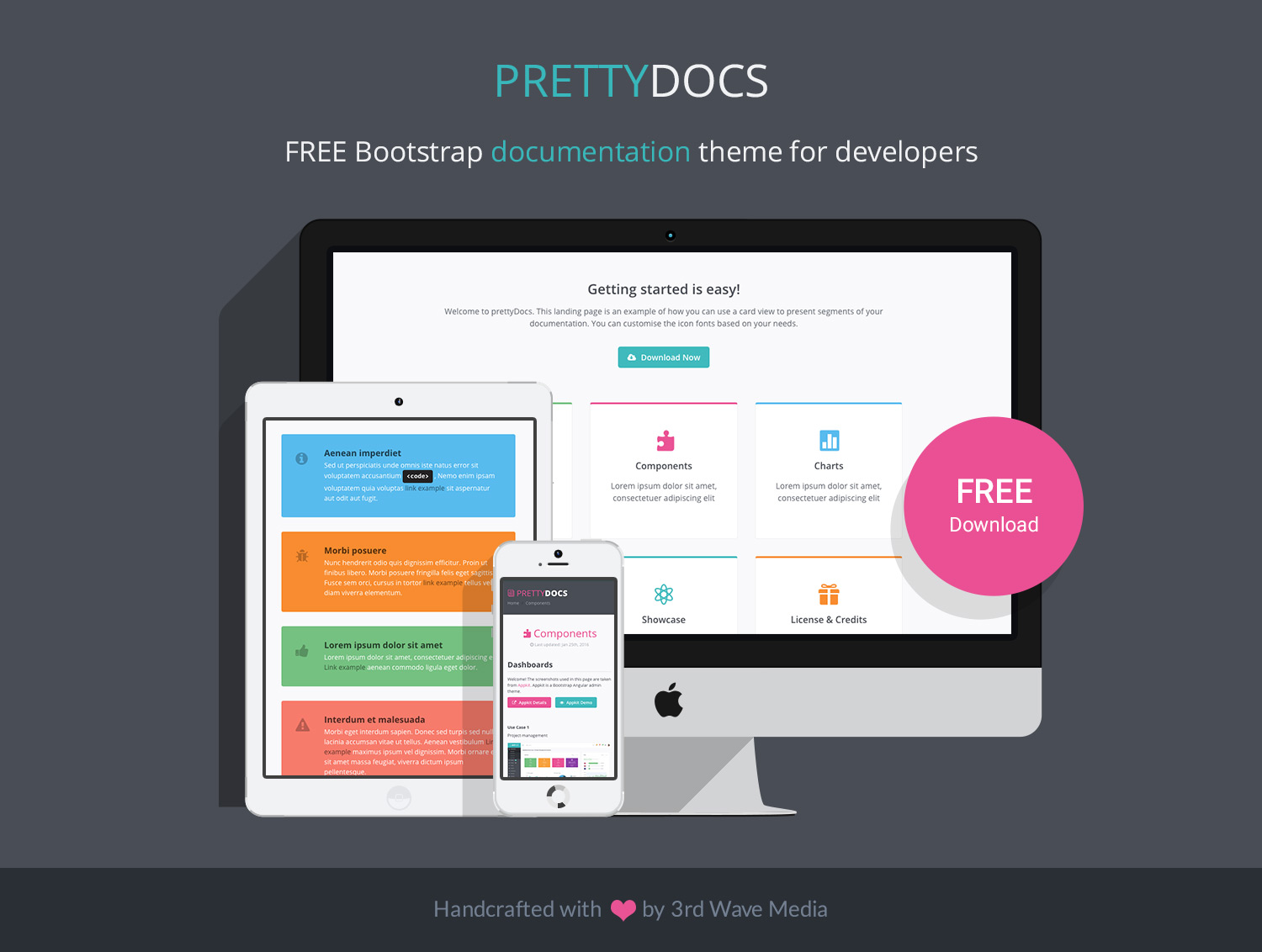 prettydocs free bootstrap 4 documentation theme for developers and