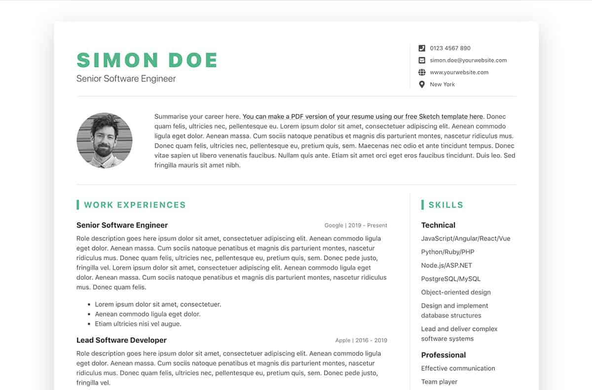 DevResume Bootstrap Developer Resume Template