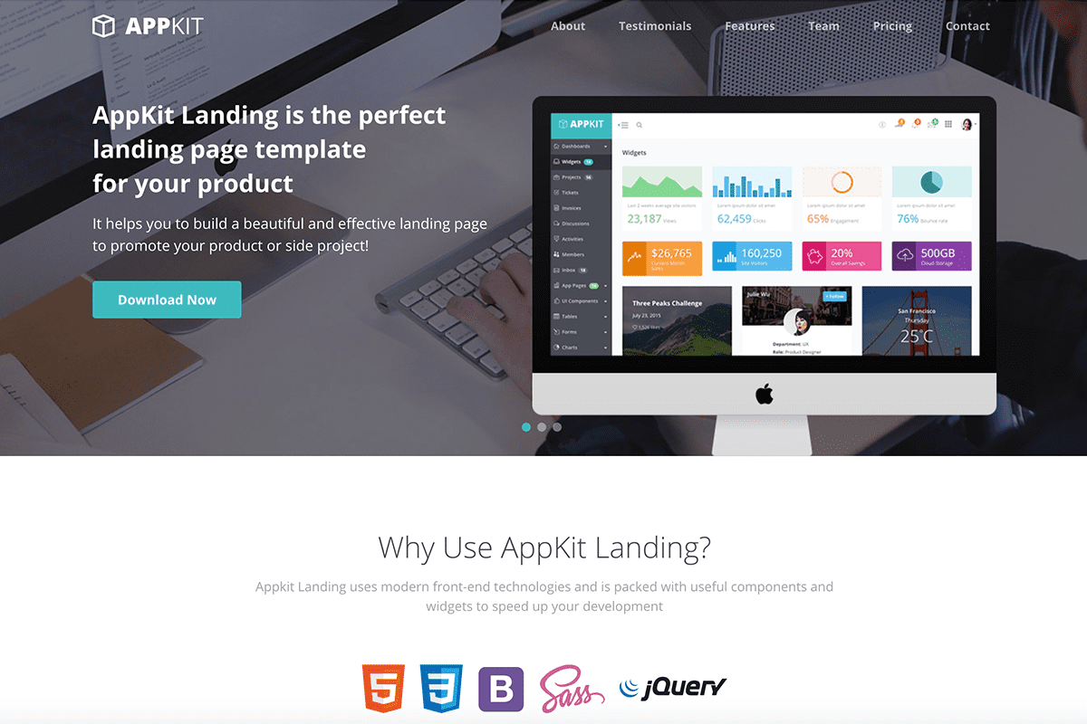 top-10-bootstrap-themes-for-developers-appkit-landing-theme-screenshot