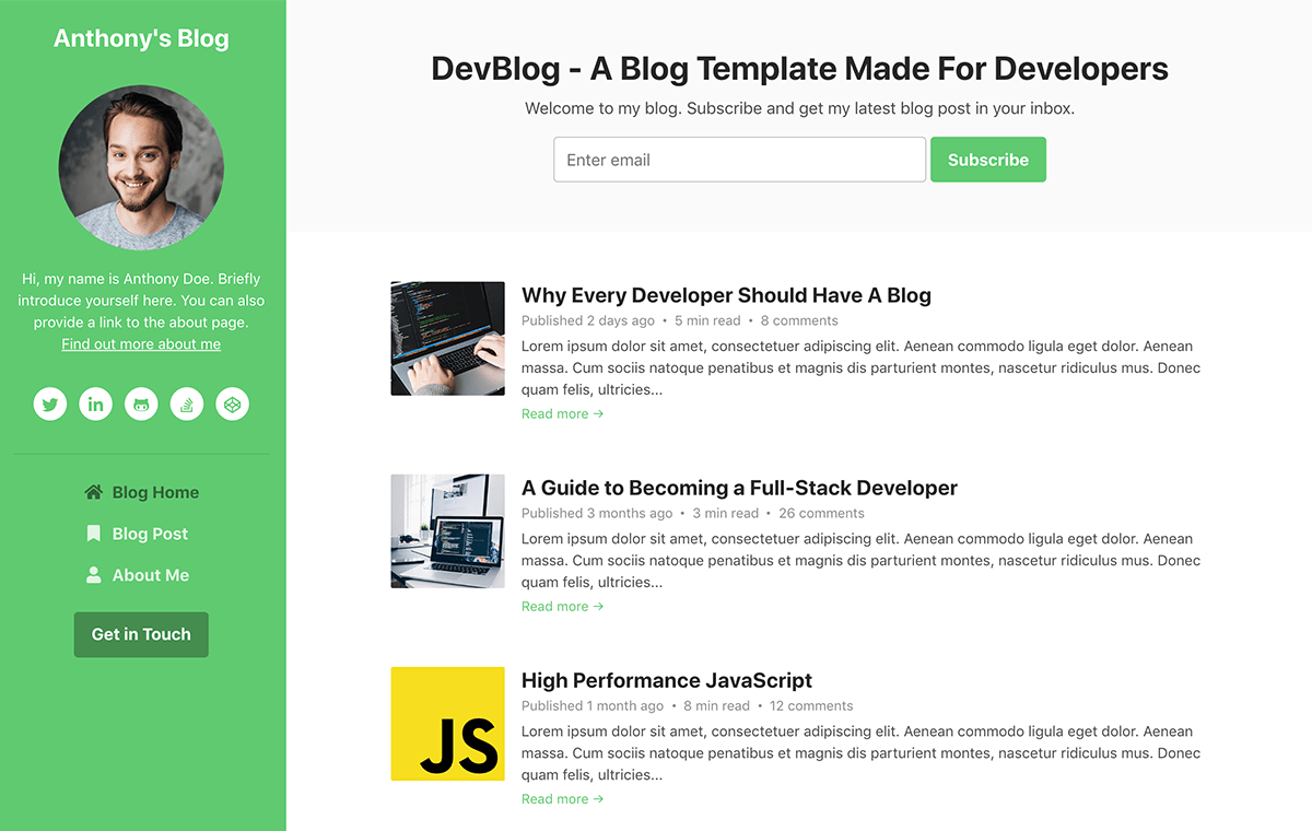 top-10-bootstrap-themes-for-developers-devblog-theme-screenshot
