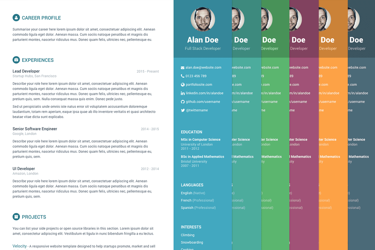 Orbit - Free Bootstrap Resume Template For Developers