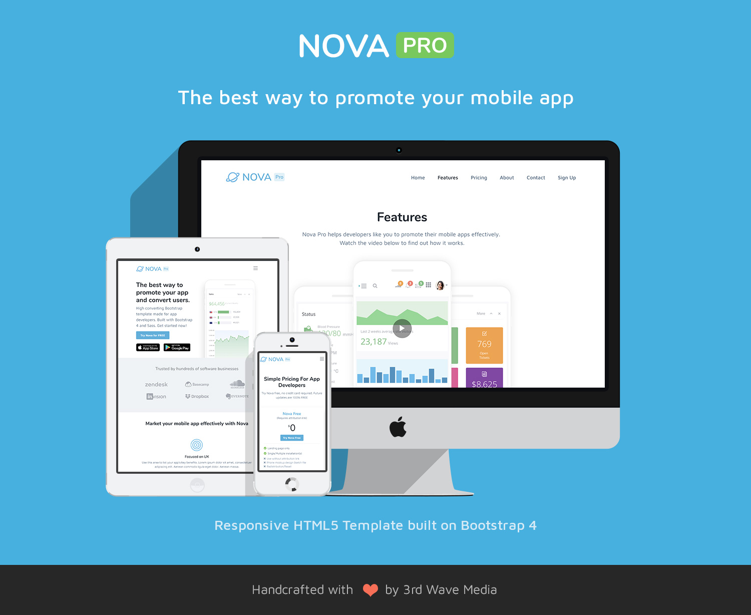 nova pro bootstrap 4 theme for mobile apps bootstrap themes made