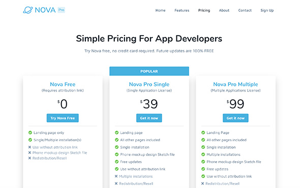 Bootstrap-Template-For-Mobile-Apps-Nova-Pro-Pricing-Page