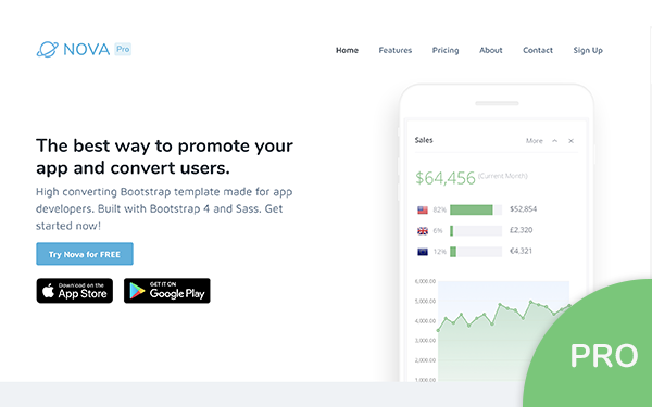 bootstrap-template-for-mobile-apps-nova-pro