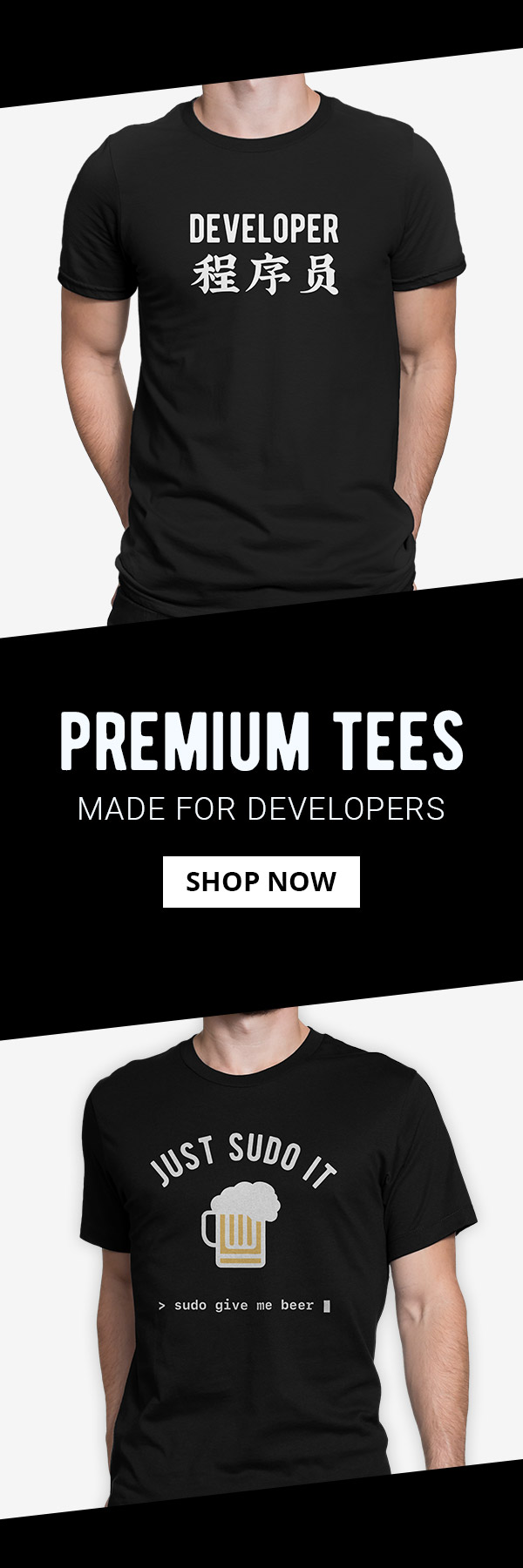 Premium Tees Made for Developers