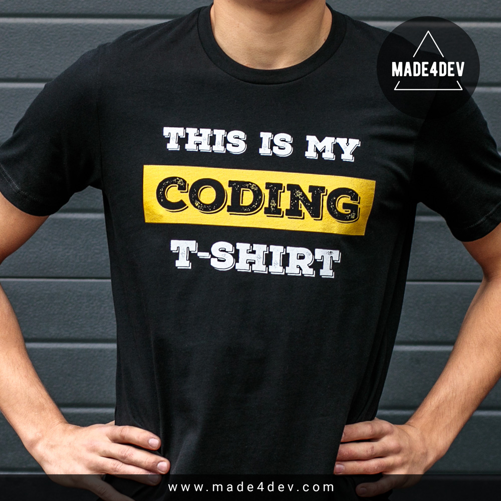 my coding t-shirt for developers