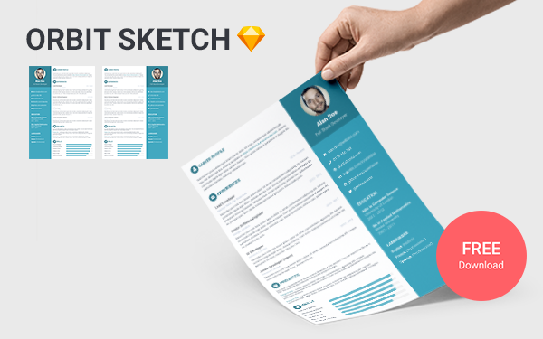 Orbit Sketch - Free Sketch Resume Template