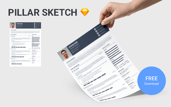 Pillar Sketch - Free Sketch Resume Template For Software Developers
