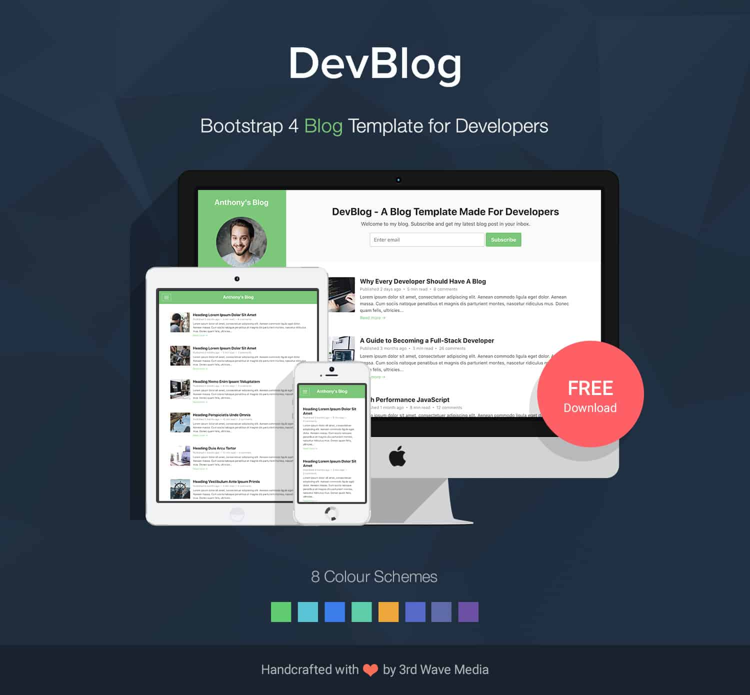 bootstrap 4 blog template free download
