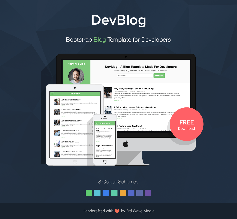 Bootstrap-Blog-Template-DevBlog-Pormo