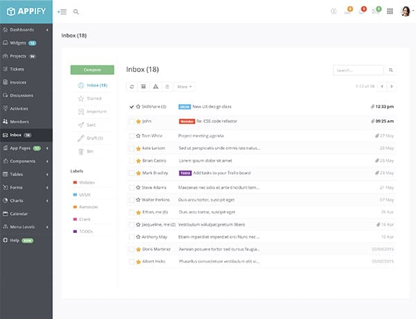 bootstrap-admin-template-appify-inbox-page