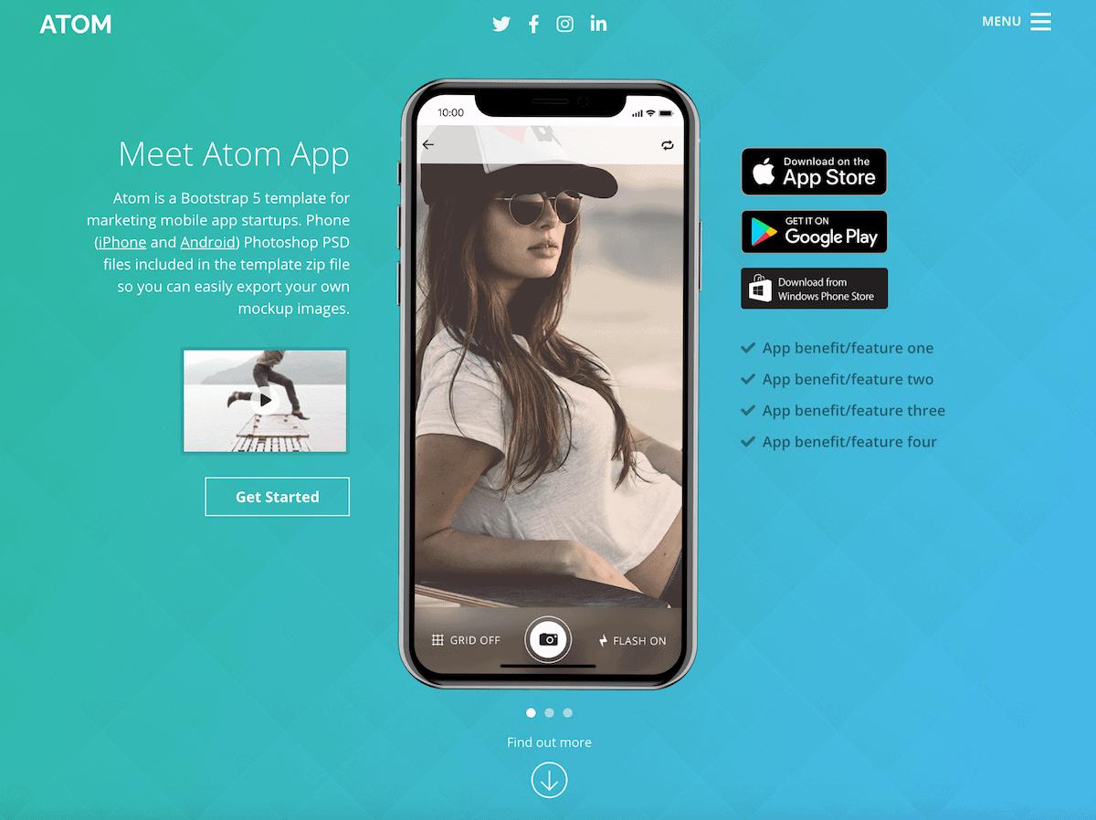 atom-bootstrap-mobile-app-template-for-app-startups