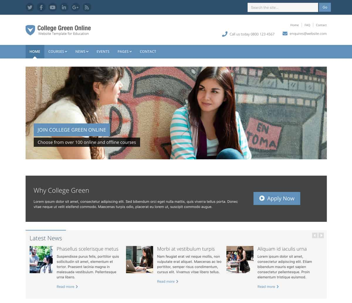college-green-bootstrap-template-for-universities-colleges