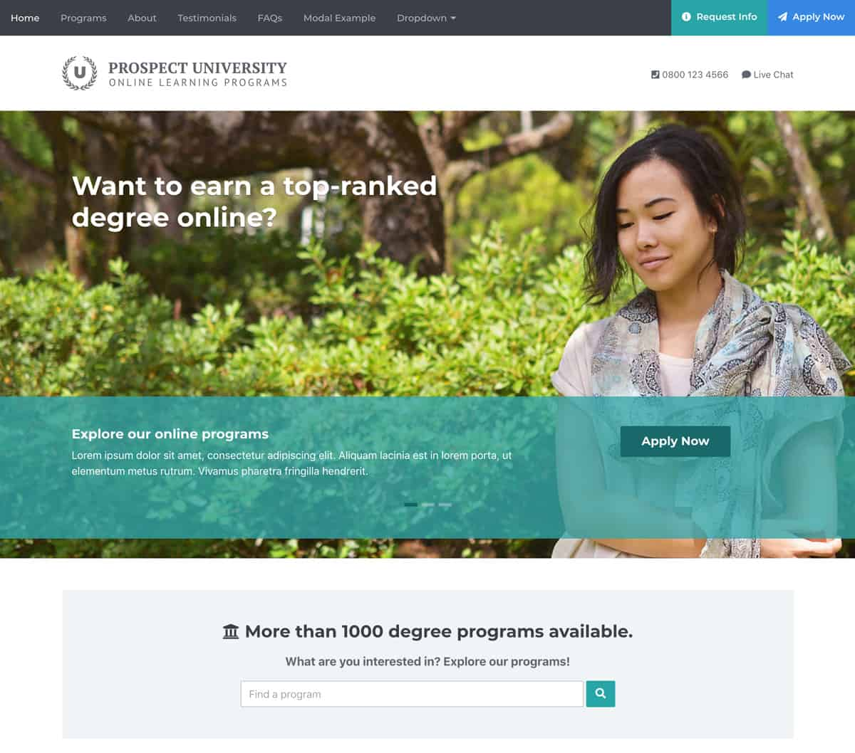 prospect-bootstrap-landing-template-for-online-education
